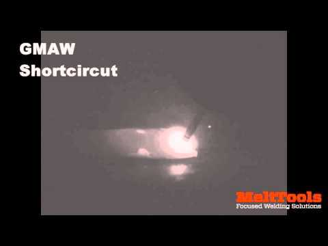Fillet weld GMAW FCAW spray and short circuit mode